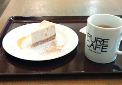 PURE CAFEのNYチーズケーキ